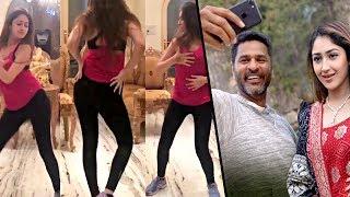 Prabhu Deva & Sayesha Saigal dance practice for 'DAMN DAMN' song | Vanamagan Heroine Hot News