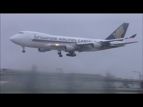 Sunny & Rainy Day Spotting at London Heathrow 02/04/16 - Part 2 (Incl. Singapore 747F & Asiana 747)