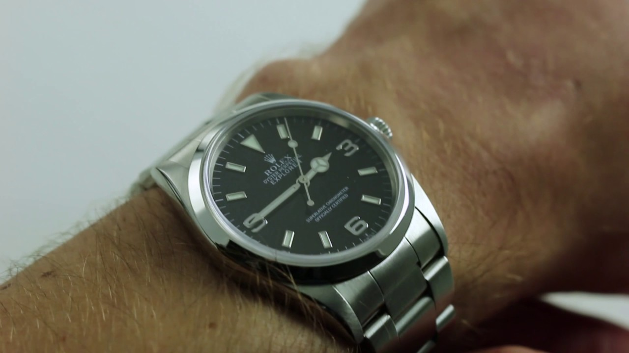Rolex Explorer 14270 Black Dial Luxury Watch Review Youtube