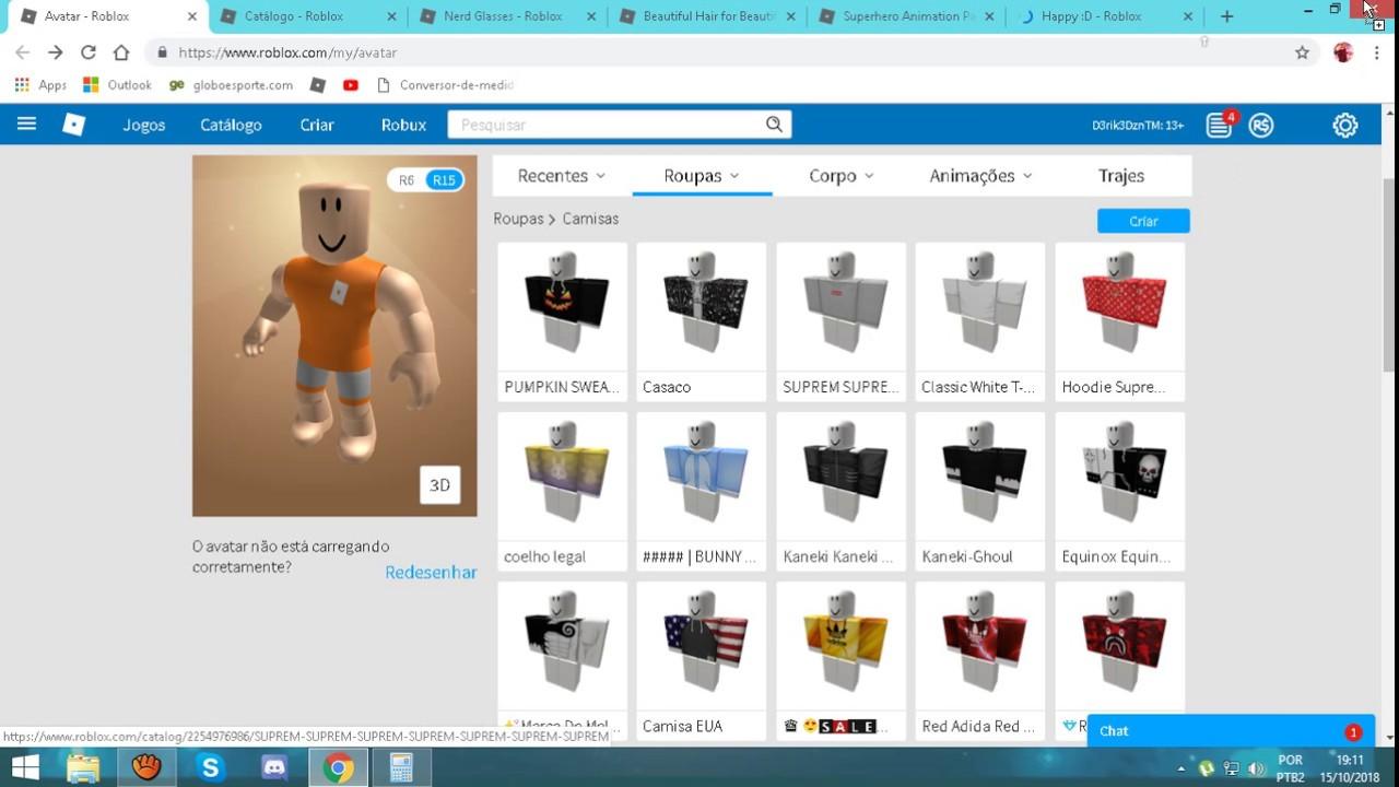 como fazer um avatar top com 400 robux