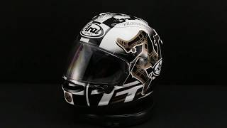 arai corsair x limited edition 2017 iom tt helmet 360 view