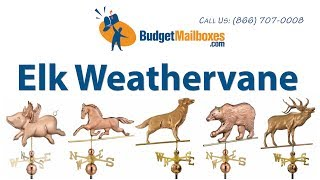 Budgetmailboxes.com | Good Directions 648p Elk Weathervane - Polished Copper