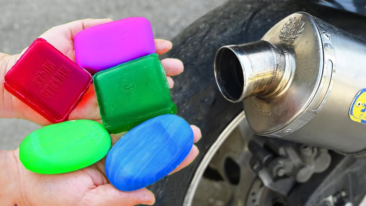EXPERIMENT SOAP IN 100°C MOTORCYCLE EXHAUST