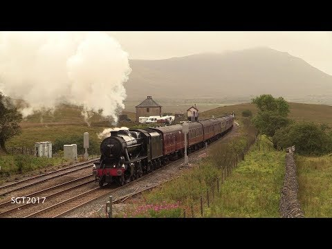 LMS 48151 Takes 12 towards Blea Moor tunnel on the Scenic Carlisle Express 6/9/17.