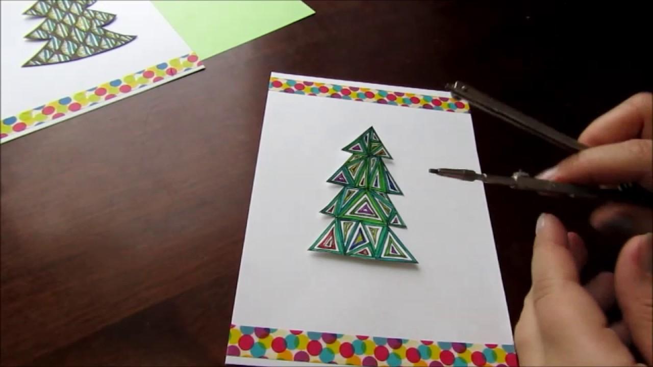 Нарисовать открытку с годом своими руками