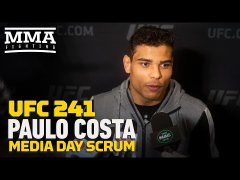UFC 241: Paulo Costa Says Fight With Yoel Romero Is 'Personal' After 'He Talked Sh*t' About Me'