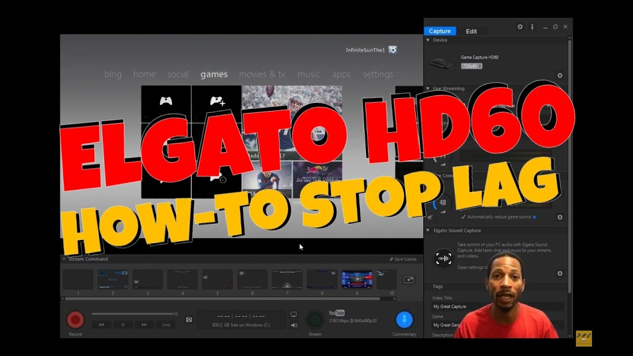 Elgato HD 60 Game Capture (How-to Stop Lag)