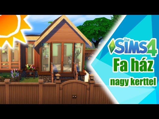 Fa ház dupla kerttel - The Sims 4 | Speed Build | No CC