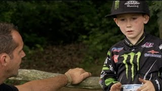 Ivano van Erp, 8 year old motocross rider from the Netherlands.