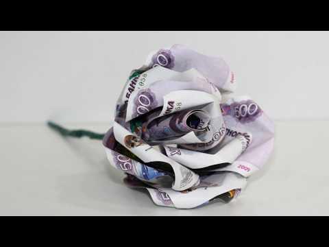 Как сделать букет из денег своими руками букет роз