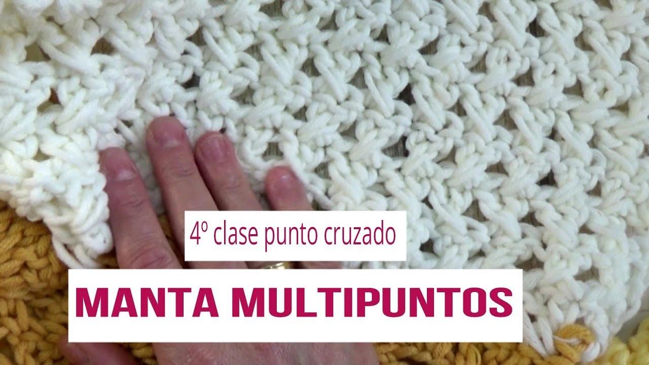 Manta multipuntos en crochet | clase 4º |manta multipuntos en ...