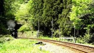 磐越西線 65k495 C61 ばんえつ物語号 上り 鹿瀬-日出谷間