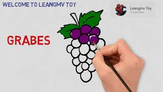 drawing grapes, how to draw grapes, coloring book for kids