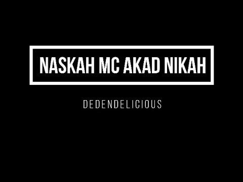 Naskah Mc Akad Nikah Opening Sampai Closing Youtube
