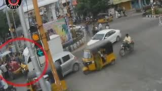 Tractor Vs TATA ACE Accident  Caught by CCTV  Tirupati Police