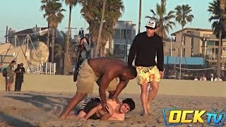Can You Rub Some Lotion On Me? BEACH PRANK! (MoeAndET)