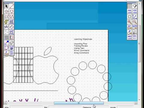2D design Introduction basic tools, Mirror Array tool