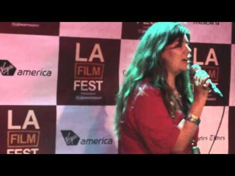 Wannabee pop star...sings out on Karaoke night @ LA Film Festival!
