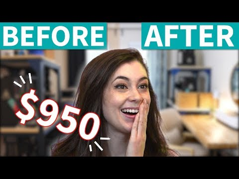 Under $1000 Guest Room / Home Office Makeover