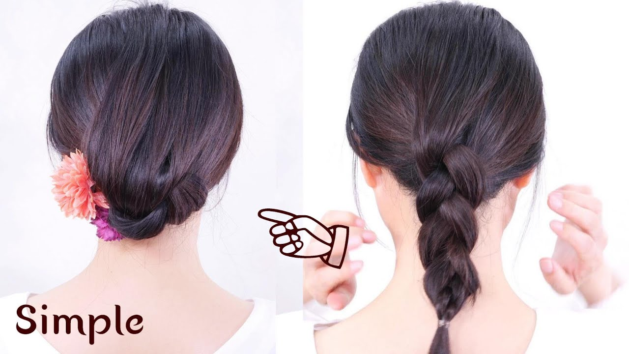 Self party wedding hairstyles//Low Chignon Hair Tutorial//Chie