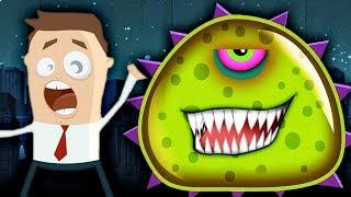 ХИЩНЫЙ СЛИЗЕНЬ ЕСТ ЛЮДЕЙ Мультик Детская игра про злого слизня Mutant Blobs Attack