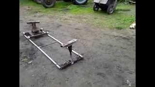 Wózek do rozpoławiania ciągników