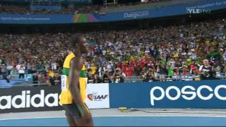 4x100m Relay Men Final 37.04 WORLD RECORD Jamaica Usain Bolt IAAF WC 2011