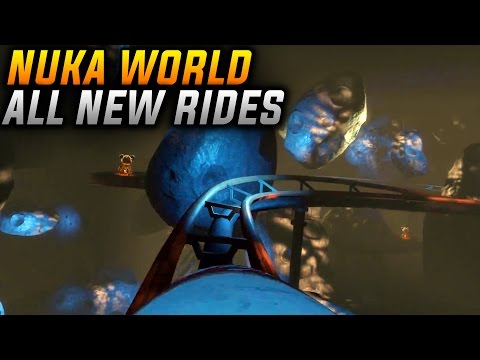 Fallout 4 Nuka World POWER RESTORED - GOING ON ALL NEW RIDES! (Nuka World DLC)