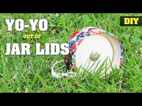 How to make a YoYo out of Jar Lids | DIY easy yo-yo toy tutorial