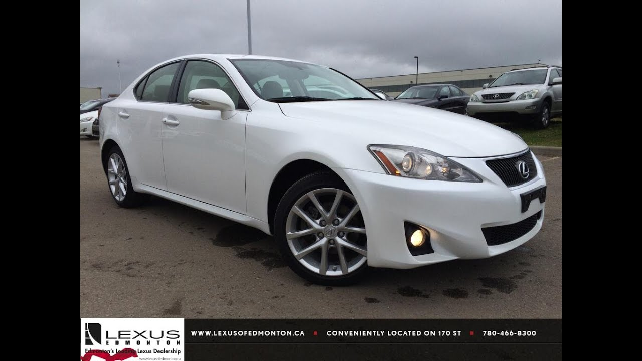 lexus certified pre owned white 2013 is 250 awd navigation package review drayton valley. Black Bedroom Furniture Sets. Home Design Ideas