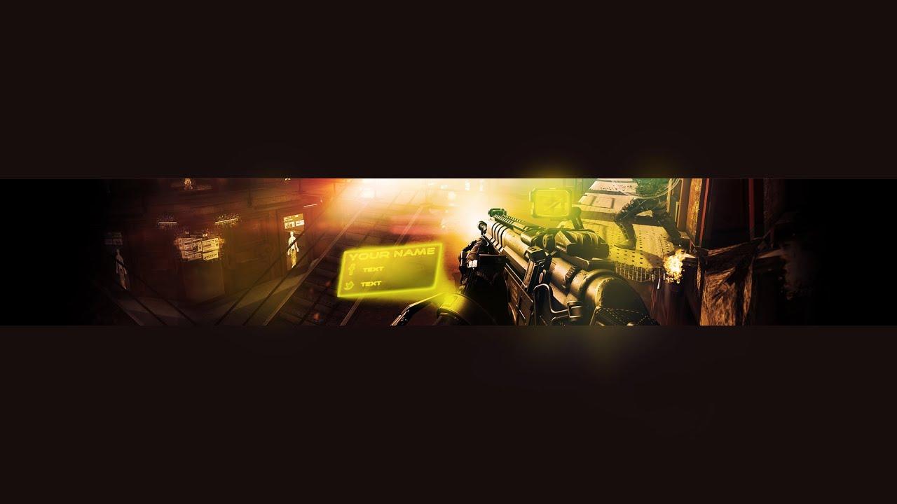 Call Of Duty Advanced Warfare Youtube Banner Template
