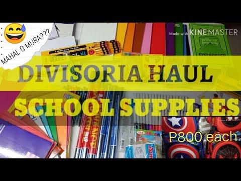 DIVISORIA HAUL || SCHOOL SUPPLIES