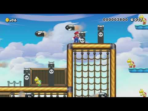 Bullet Bill Skywalk by Allan - Super Mario Maker - No Commentary