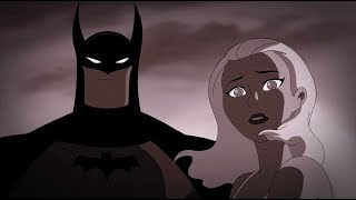 Beautiful blonde girl is saved in the arms of batman . what a save!