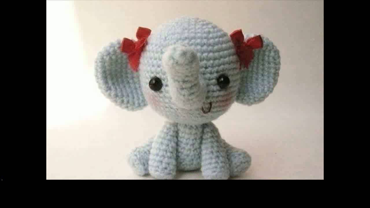 easy crochet elephant projects - YouTube