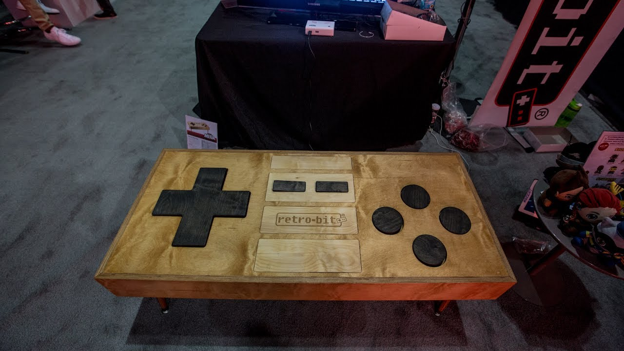 coffee table-sized nes controller - youtube