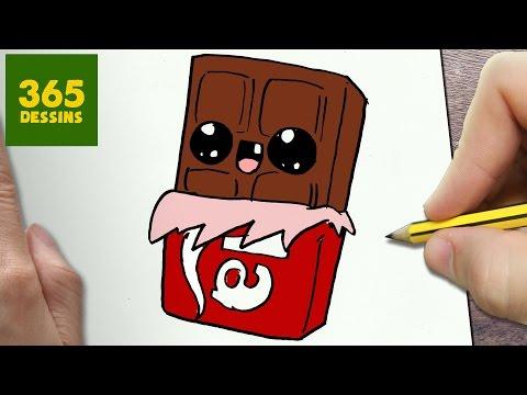 Comment Dessiner Chocolat Kawaii étape Par étape Dessins