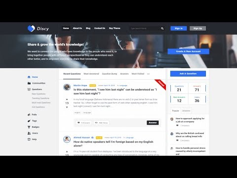 How To Make A Questions & Answers, Q&A, Forum Website Like Quora With WordPress & Discy Theme 2019