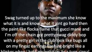 Soulja Boy (ft. Gucci Mane) - Pretty Boy Swag Remix with Lyrics On The Screen!!