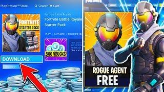 """NEW FREE """"Starter Pack"""" ROGUE SKIN + VBUCKS - Fortnite Rogue Agent GAMEPLAY - Fortnite Battle Royale"""