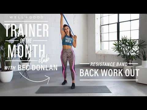 This resistance band back workout improves posture in 10 minutes flat