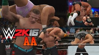 WWE 2K16 - John Cena ATTITUDE ADJUSTMENT Compilation!