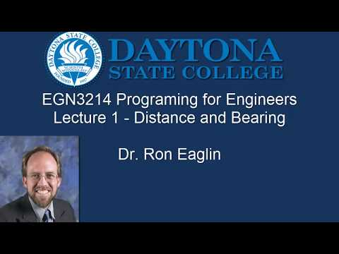 Python for Engineers - Lecture 1 Distance and Bearing