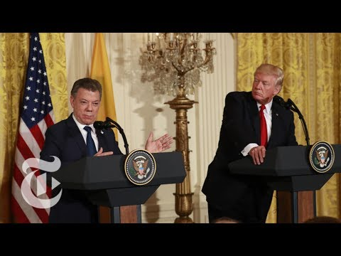 President Donald Trump Meets With Colombian President Juan Santos | The New York Times
