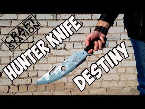 How to make Hunter knife from Destiny DIY