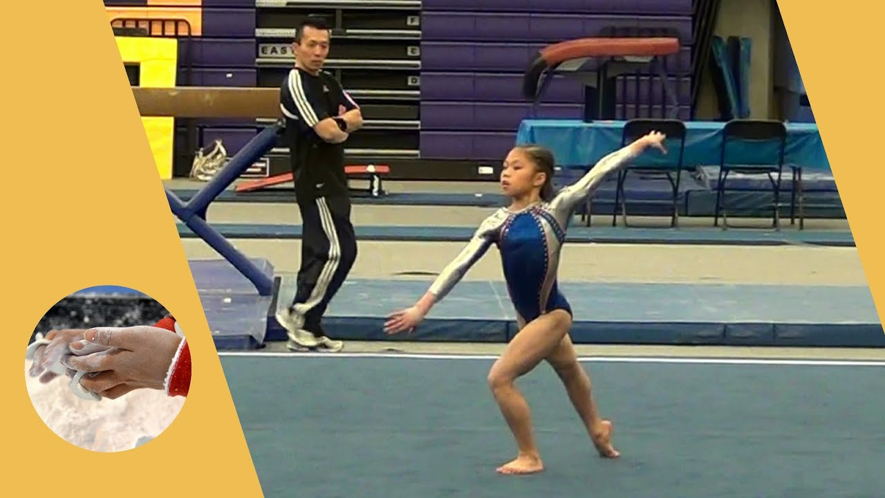 Kaitlyn Lam   Level 7 Gymnastics Floor Routine 9.700   State Champion    YouTube