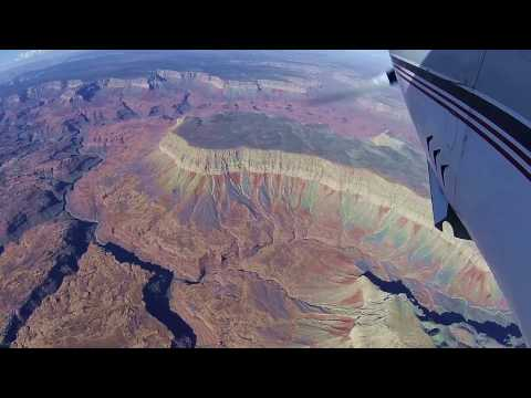 Flying the General Aviation scenic corridors over Grand Canyon National Park