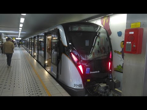 BRAND NEW STIB/MIVB CAF M7 Subway Train ride in Brussels on its first day of service !