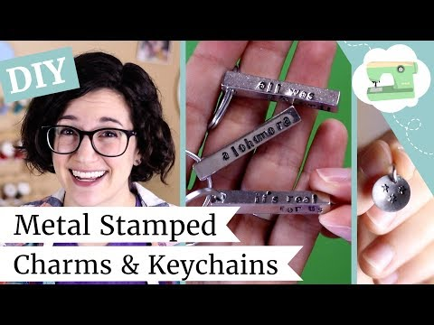 DIY Metal Stamped Holiday Gifts - Book Inspired Keychains and Charms! | @laurenfairwx