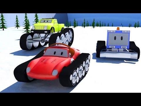 Kar Temizleme Aracı, Canavar Kamyonlar Ve Yarış Arabası Spid | Çocuklar çizgi Film